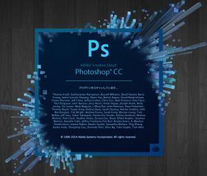 PhotoshopCC起動画面