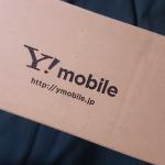Ymobileのロゴ入り段ボール箱