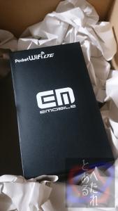 イーモバイルのロゴが残るGL04Pの箱