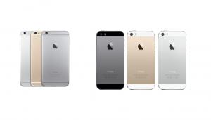iPhone6とiPhone5Sの背面