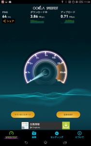 U-mobileの回線計測結果