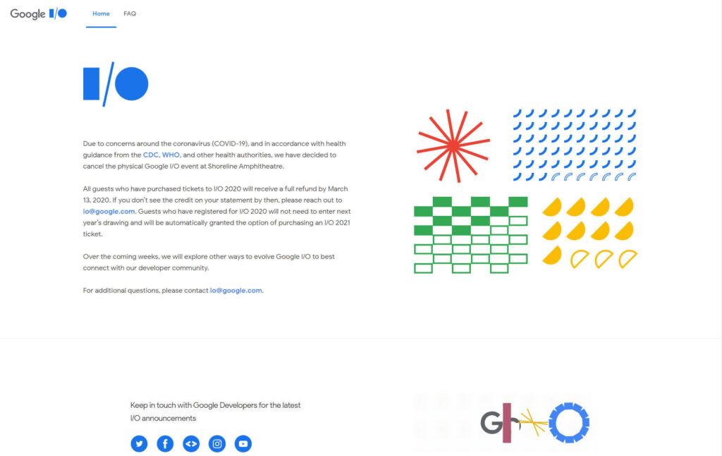 Google I/O の公式サイトより引用